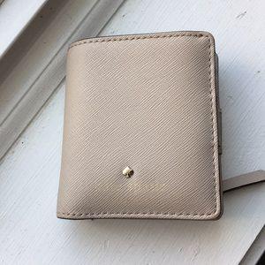 Beige Kate spade small wallet